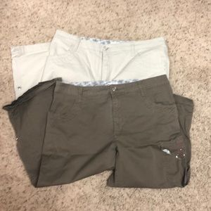 Lot of Two! Lee Cargo Capris